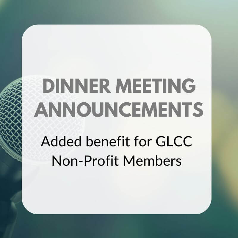 DINNER MEETING ANNOUNCEMENTS Graphic
