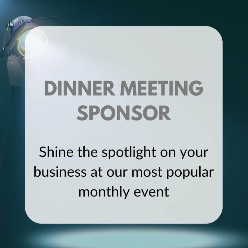 DINNER MEETING SPONSOR Graphic