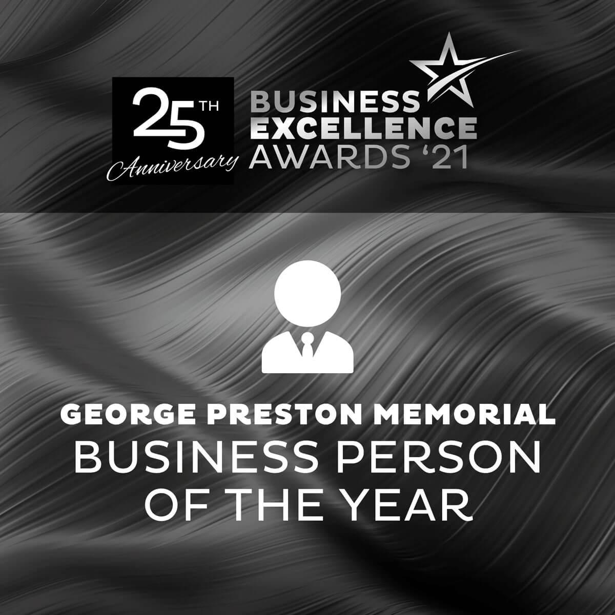 george preston award banner