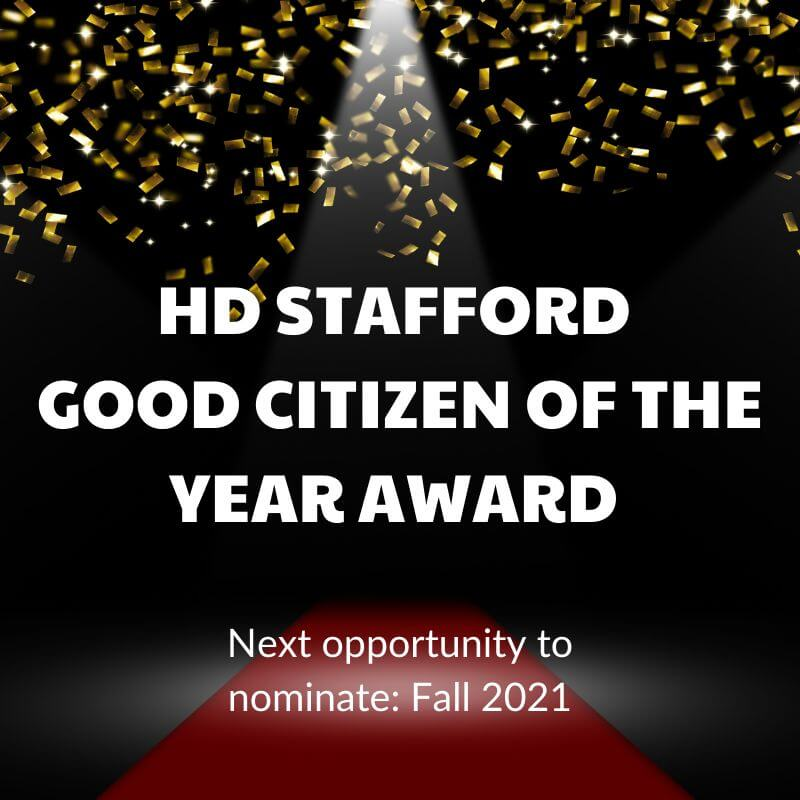 good citizen of the year award graphic