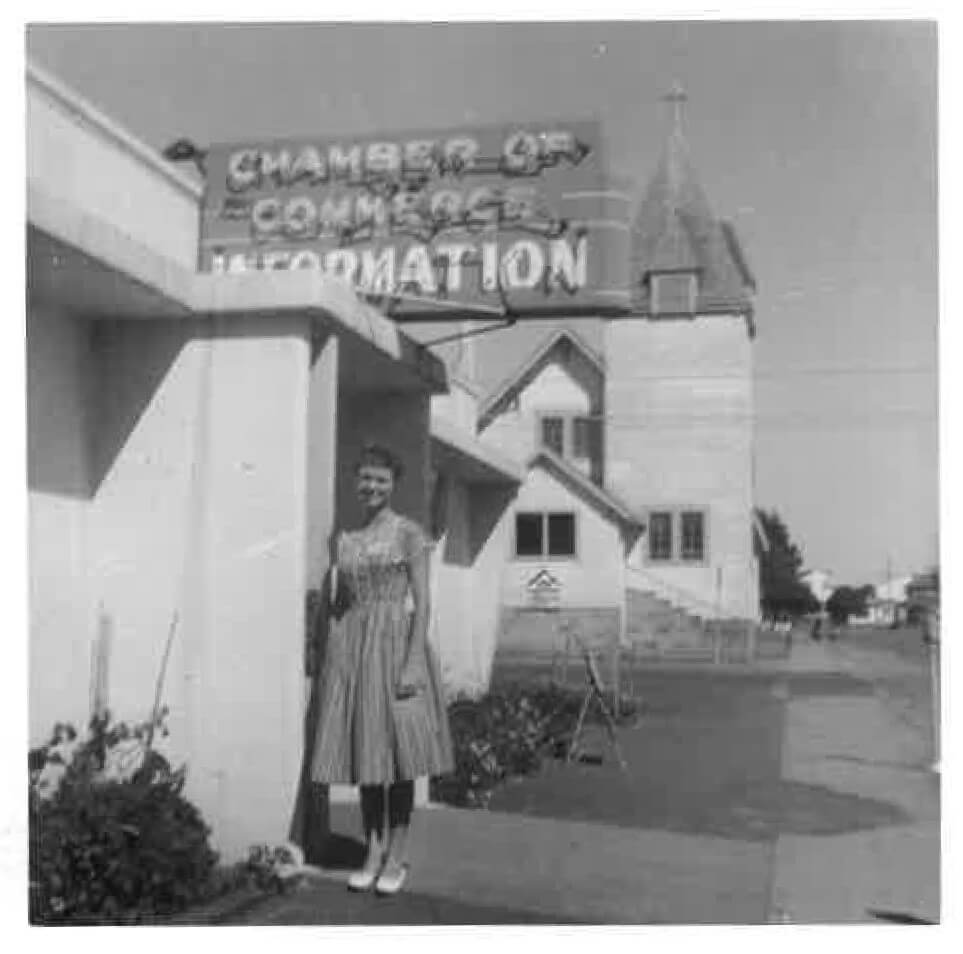 old photo of information center