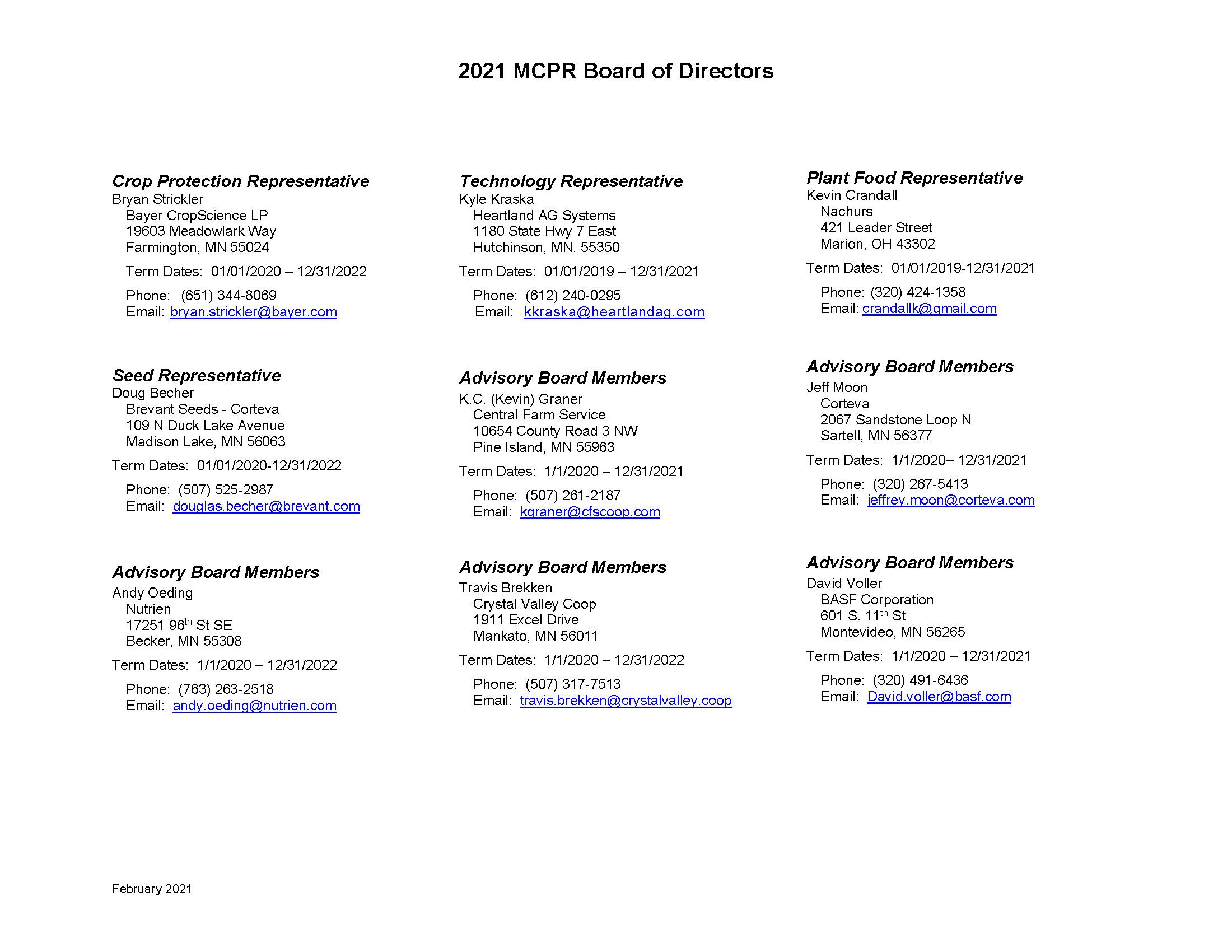 2021 MCPR Board of Directors_Feb_Page_2