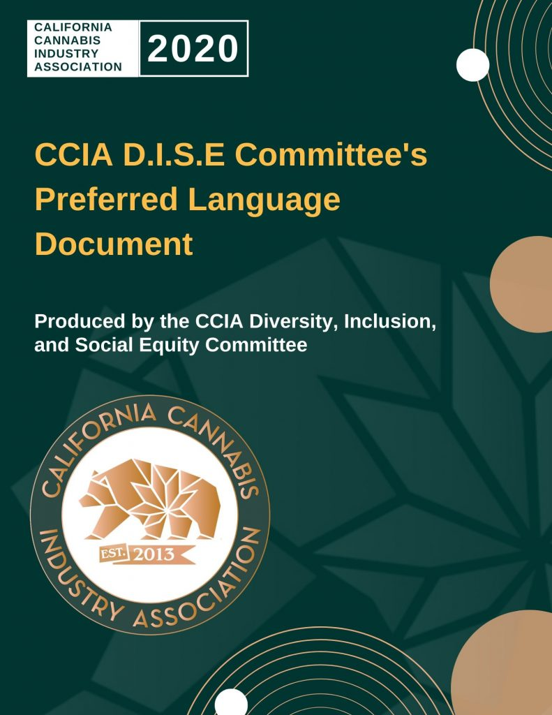 CCIA DISE Committee Preferred Language Document