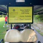 Golf cart Anne Adams Paul Anstett