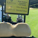 Golf cart Blue Weitschat