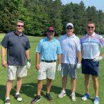 Golfers Mike Fox, Mitchell Blue, Donn Westmann, Steve McGregor