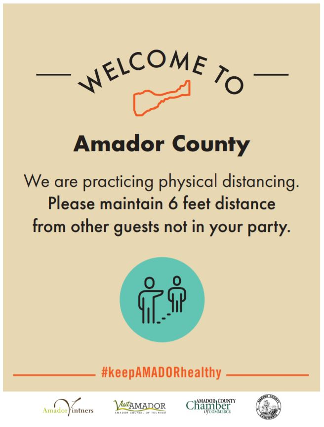 Welcome Amador Social Distance