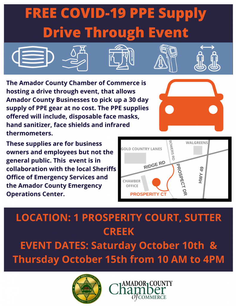 Free COVID-19 PPE Supply Drive Through Event
