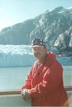 Simmons at Mendenhall Glacier in Alaska