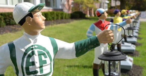 lawn jockey sculptures