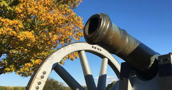 cannon on fall day