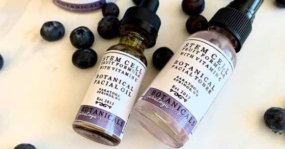 glass dropper bottles with botanical oils