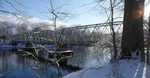 bridge over winter river