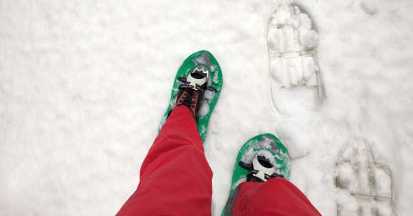 snowshoe-er's legs and feet