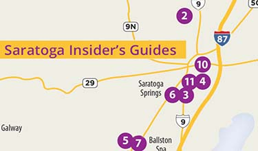 insiders guide map for downtown saratoga