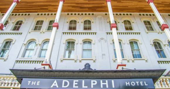 Exterior of Adelphi Hotel