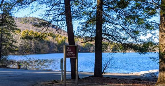 boat launch site at Moreau Lake State Park
