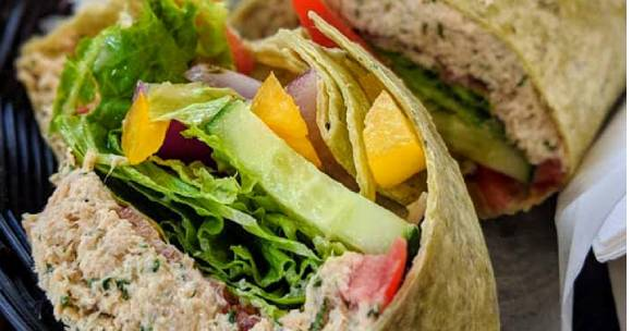 Tuna wrap sandwich