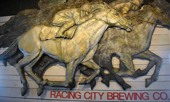 Racing City Brewery sign