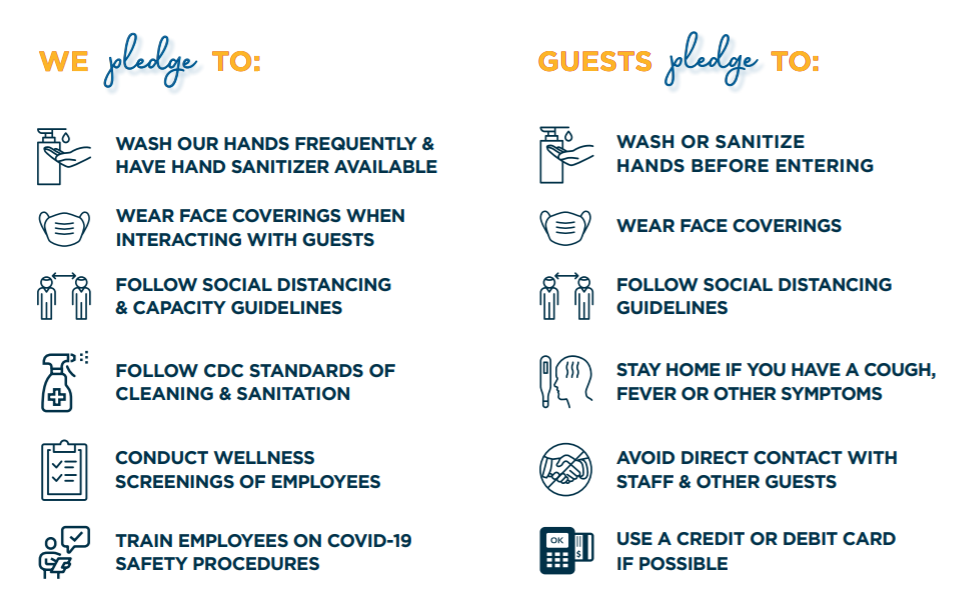 stay safe pledge infographic