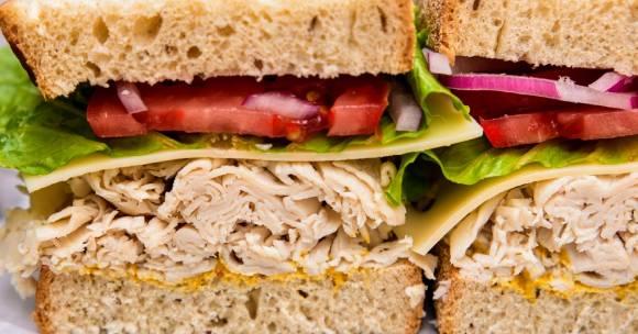 turkey sandwich half