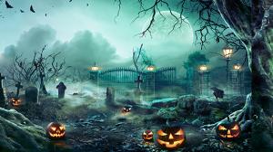 spooky halloween cemetary