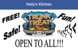 Kellys kitchen trunk or treat logo