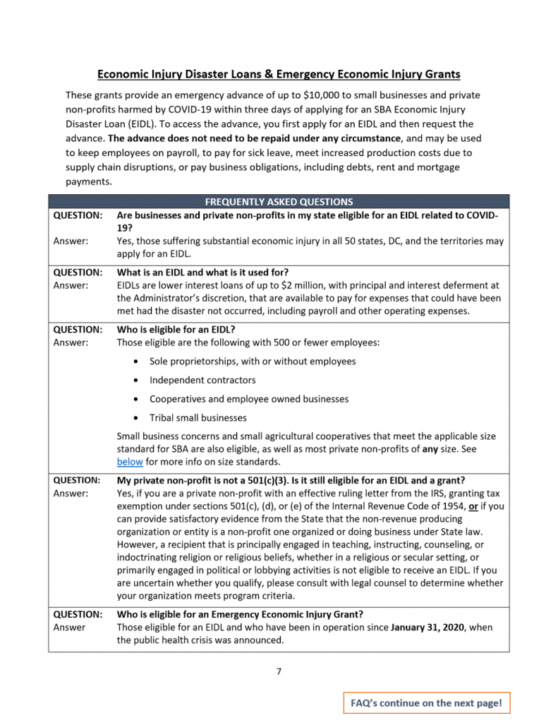 Sm Business CARES Guide 7