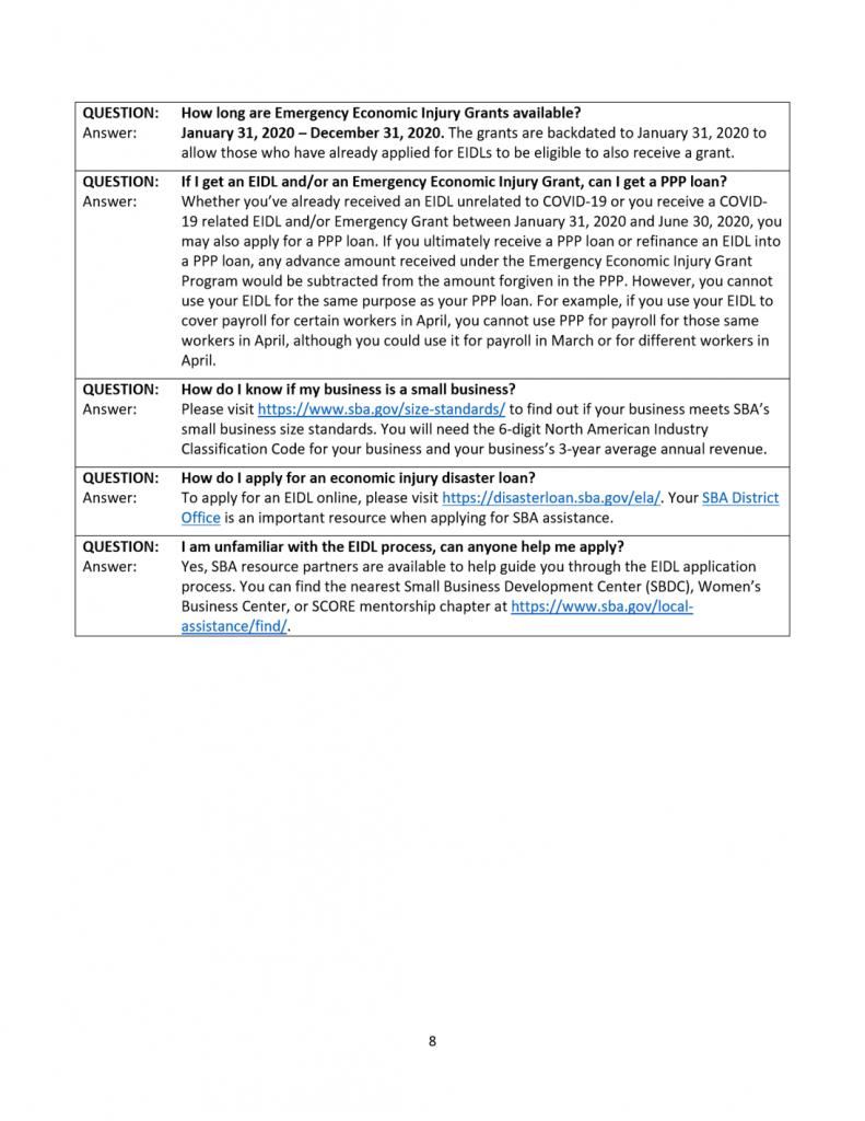 Sm Business CARES Guide 8