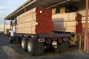 lumber on truck