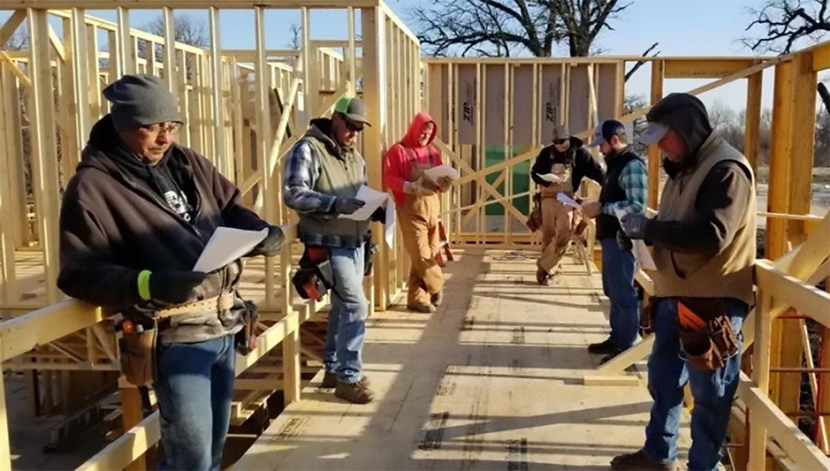 Social Distancing Construction Crew