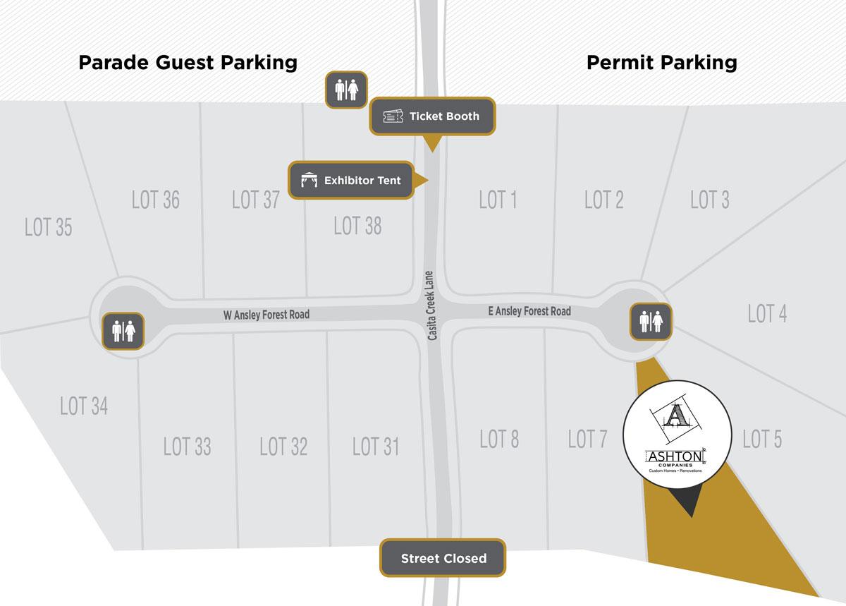 Parade of Homes Site Plan Ashton Companies