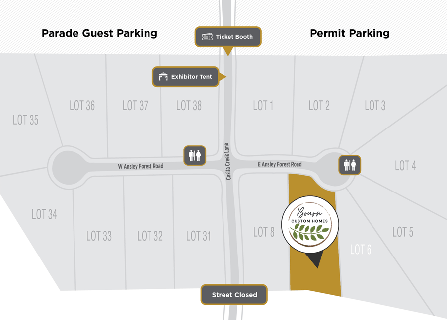 Parade of Homes Site Plan