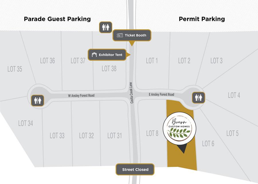 Parade of Homes Site Plan Bourn Custom Homes