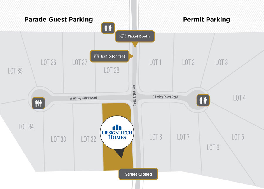 Parade of Homes Site Plan Design Tech Homes