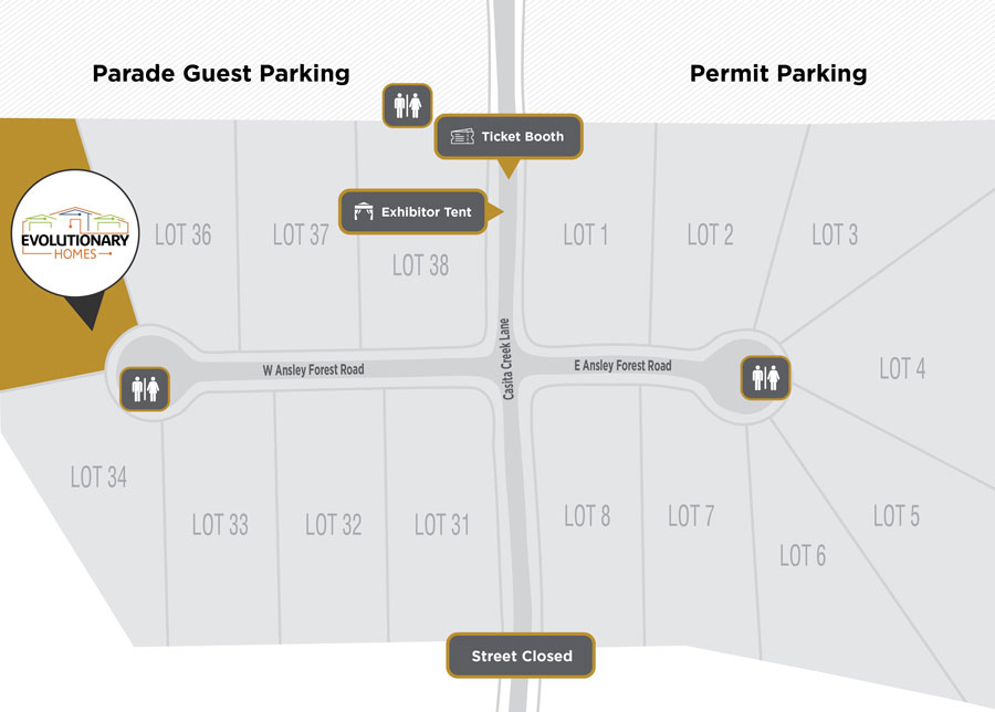 Parade Site Plan Evolutionary Homes
