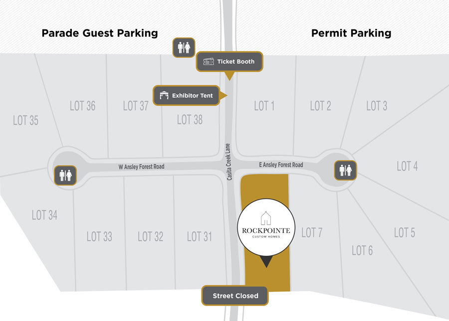 Parade of Homes Site Plan Rockpointe Custom Homes