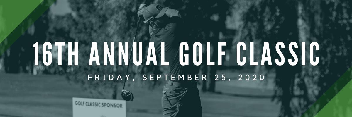 16th annual golf classic website header