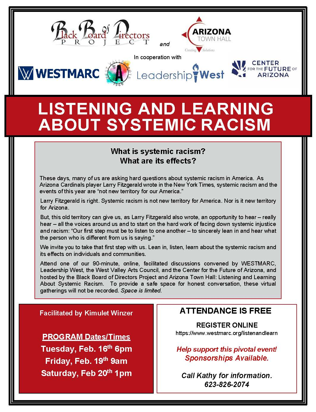 Listening and Learning Flyer