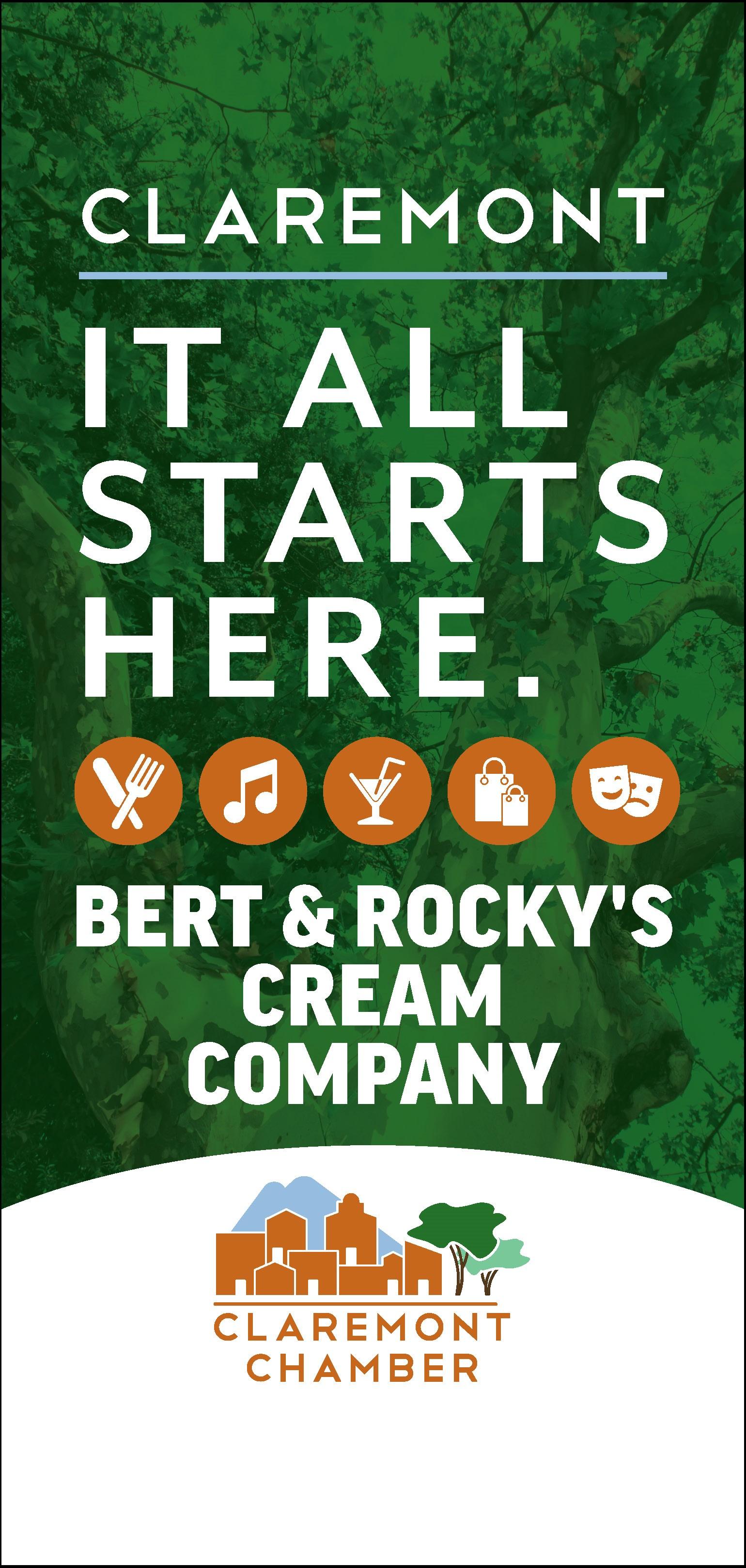 Bert & Rocky's Cream Company Banner