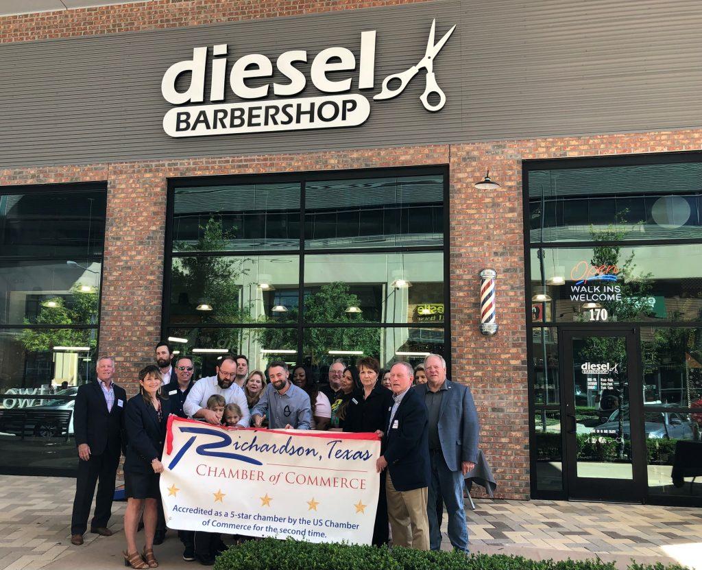 Diesel Barbershop Ribbon Cutting iPhone1