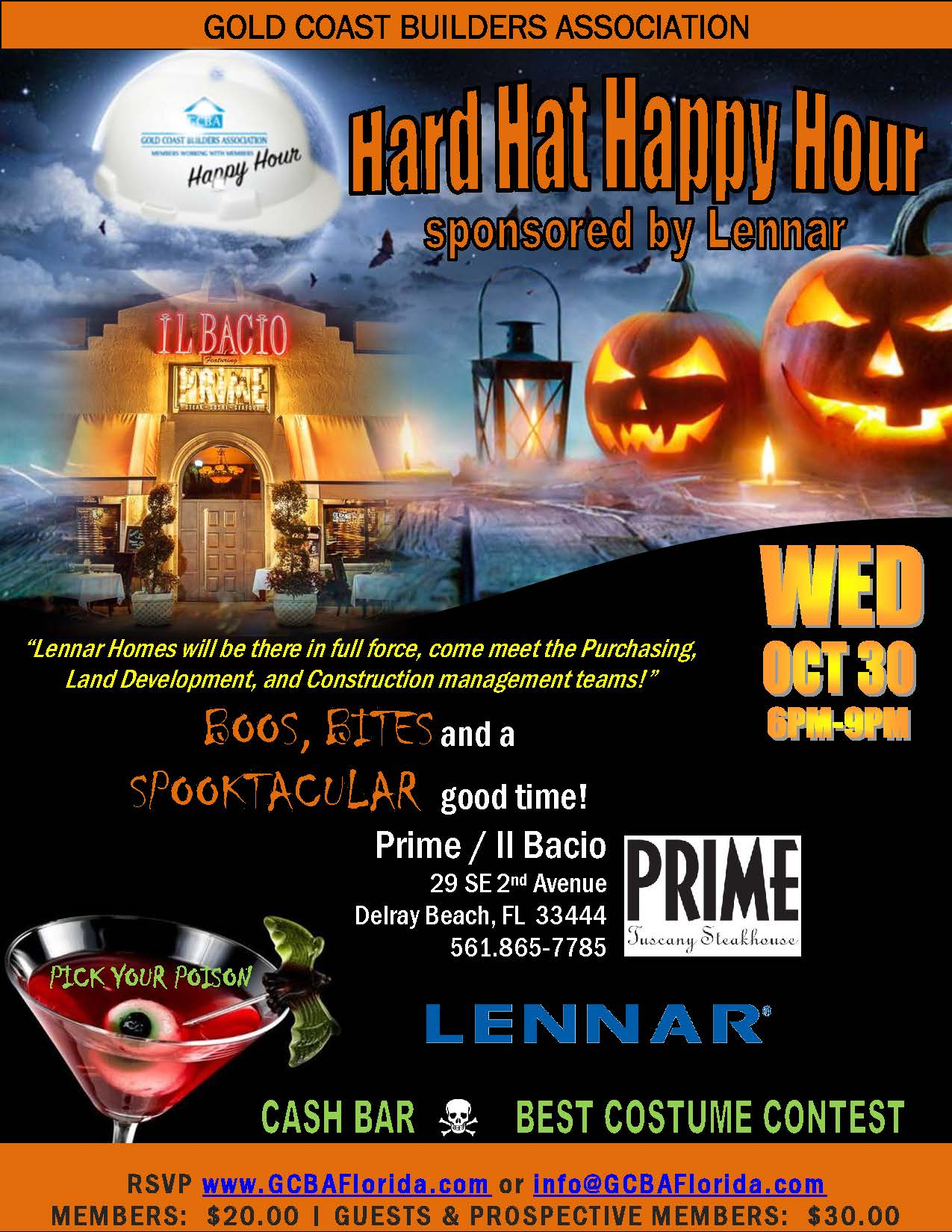 Hard Hat Happy Hour Flyer - October 2019