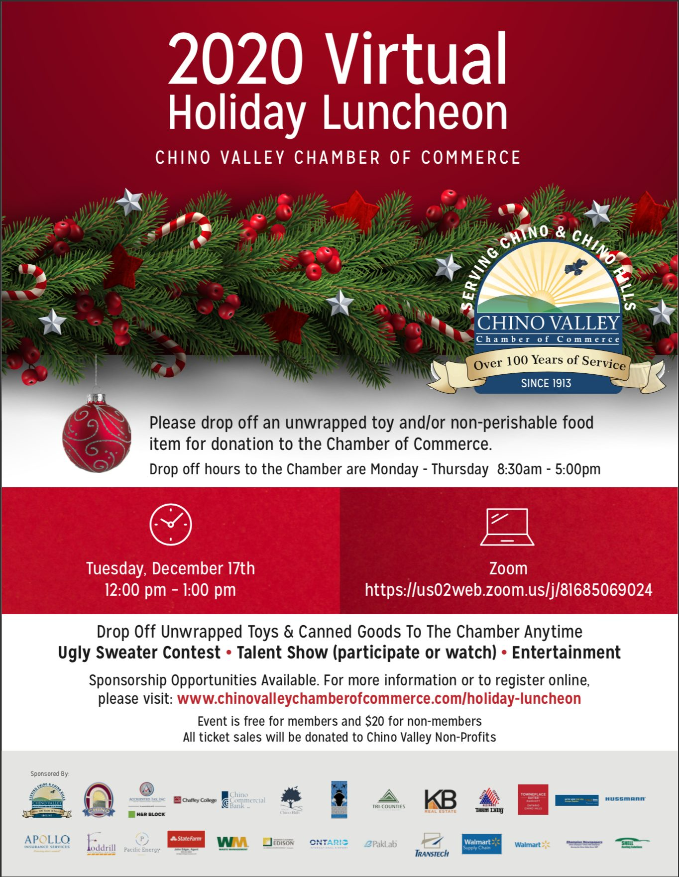 Holiday Luncheon Flyer 2020