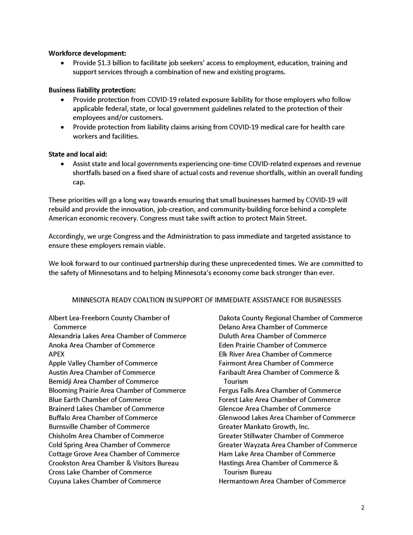 MN READY COALITION PAGE 2