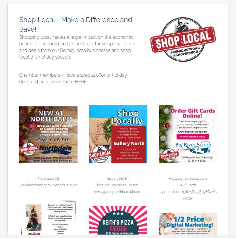 Shop Local Page