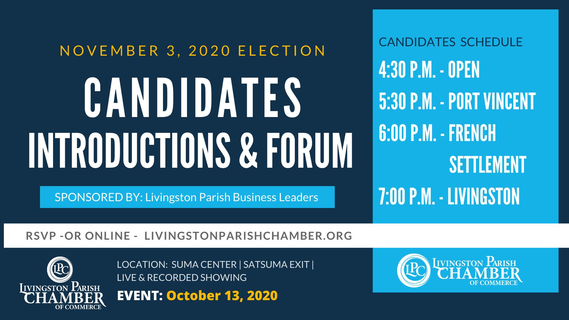 Candidates Forum Facebook Event Cover
