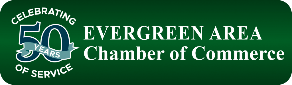 Evergreen Area Chamber of Commerce 50 years logo