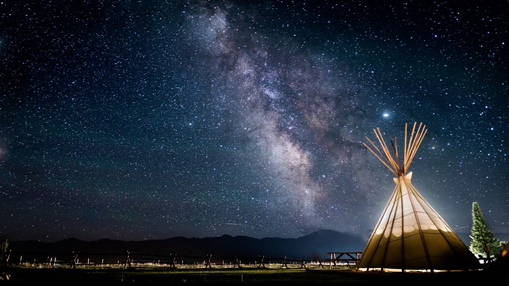 Native Ministries International - Teepee with Starry Sky - Photo by Chait Goli from Pexels