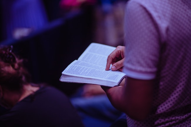 Leadership-Holding a Bible for Ministry Training