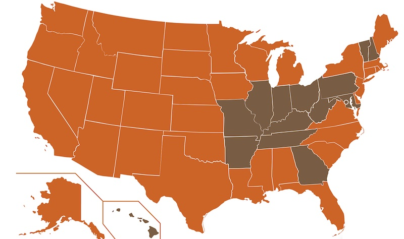US Map of Tribes - NMI